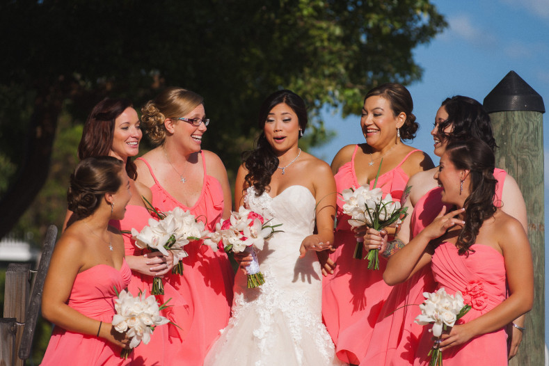 gorgeous pink bridesmaid dresses