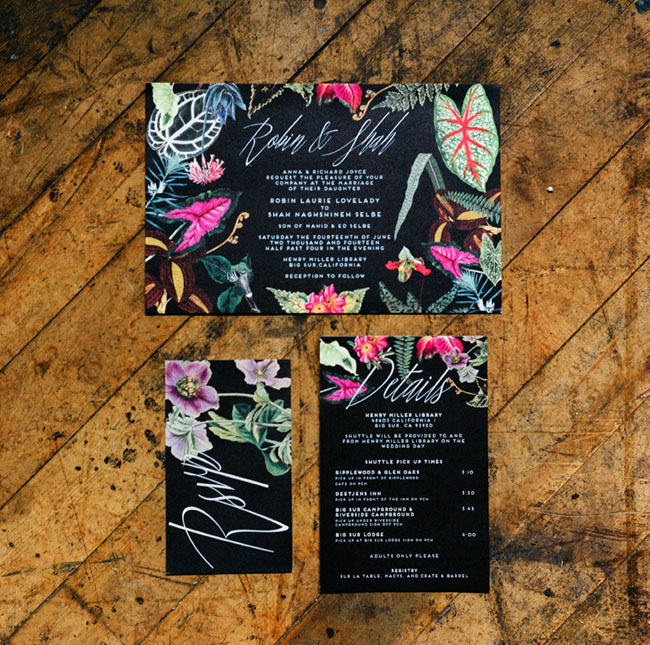 garden wedding invites