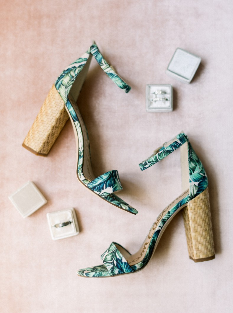 tropical wedding shoes